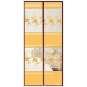 ドアカーテン防蚊フライスクリーンカーテンフリーパンチング (サイズ さいず : W80CMH200CM)