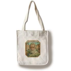 Archimedesブランドシガーボックスラベル Canvas Tote Bag LANT-27527-TT