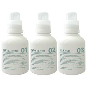 FLASCHE 洗剤詰め替えボトル 520ml 《3個セット》 (ホワイト)