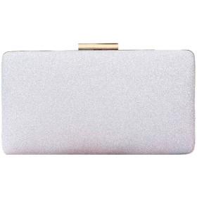クラッチ財布用女性イブニングブライダルウェディングバッグウエディングパーティーハンドバッグ財布バッグレディースクロスボディハンドバッグ,Silver