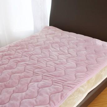 フランネル 敷きパッド シングル ピンク C001-S501PK