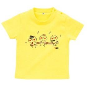 BabyChips 電車ごっこ(名入れ半袖ベビーTシャツ) 160 イエロー