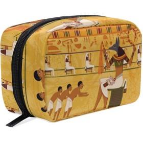 UOOYA おしゃれ 化粧ポーチ エジプト 部族 民族風 絵画 軽量 持ち歩き メイクポーチ 人気 小物入れ 収納バッグ 通学 通勤 旅行用 プレゼント用