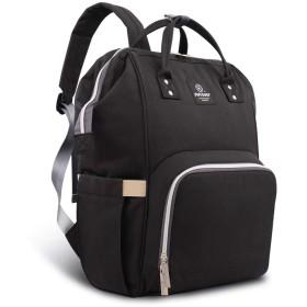 HEYIマザーズバッグ 軽量大容量多機能防水バックパック 人気 おしゃれ シンプルなレジャー旅行のショルダーバッグ アウトドアパッケージ ハンドバッグ (black)