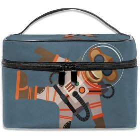 モンキー 化粧ポーチ メイクポーチ コスメバッグ 収納 雑貨大容量 小物入れ 旅行用