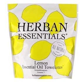 ハーバンエッセンシャルズ HERBAN ESSENTIALS アロマタオル ミニ レモン 7包 [並行輸入品]