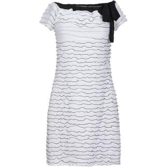 《セール開催中》CRISTINAEFFE COLLECTION レディース ミニワンピース&ドレス ホワイト 40 ポリエステル 100%
