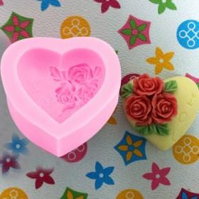 ホット石鹸金型ハート愛花用シリコンモールド手作り ケーキ キャンディ パーティー新