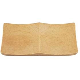 木製 ブナ 角 プレート 2つ 仕切り