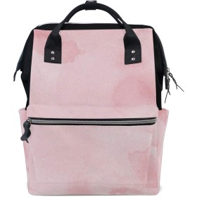 ママリュック 水墨画 ピンク ミイラバッグ デイパック レディース 大容量 多機能 旅行用 看護バッグ 耐久性 防水 収納 調整可能 リュックサック 男女兼用