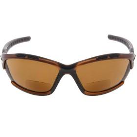 アイキーパー(Eyekepper) TR90 折れにくい スポーツ用 ポリカーボネート製 遠近両用 サングラス メンズ レディース ランニング お釣り ドライビング ゴルフ ハイキング 野球 ケース&ポーチ&クロス付 +2.00 ブラウン-グレーレンズ
