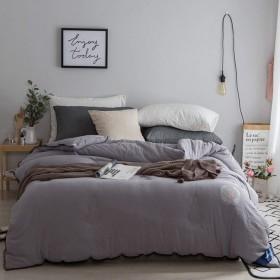 WCH 冬と冬の暖かい暖かい寝具ダブルキルト厚い綿のキルト寝具 (Color : グレー, サイズ : 200230cm(3.5kg))