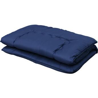 アイリスプラザ 敷布団 シングル 3層構造 厚さ10cm 固綿入り 軽量 低ホルムアルデヒド ネイビー