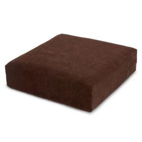 低反発&高反発ふんわり角クッション ブラウン クッション 日本製 座布団 姿勢 人気 カバー 洗える
