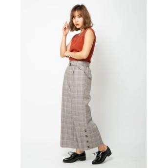 【セシルマクビー/CECIL McBEE】 ベルト付き裾釦ワイドパンツ