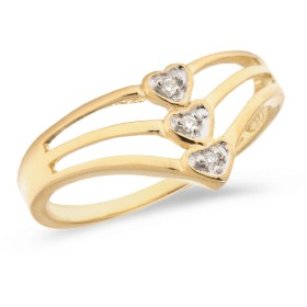 K14 イエロー ゴールド ダイヤモンド ハート リング
