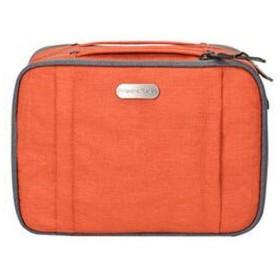 化粧品袋、多機能化粧品袋、携帯用旅行婦人シンプルな大容量のトイレタリーと化粧品収納袋 (Color : Orange)