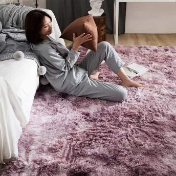 洗えるカーペット じゅうたん ラグラグマット 2畳 じゅうたん ピンク カーペットラグマット 抗菌 消臭 マイクロファイバー カーペット 2畳 絨毯 滑り止め付 シャギーラグ 防ダニ 夏 140200CM