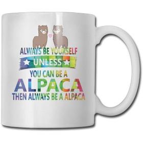 虹はいつも自分らしく海賊アルパカパーソナリティファッション コーヒーティー マグ家族や友人へのプレゼントに最適、ホワイトセラミック312ML.11oz