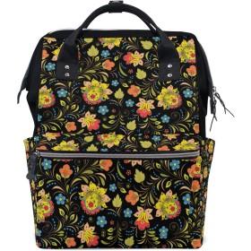 ママリュック 花柄 復古 きれい ミイラバッグ デイパック レディース 大容量 多機能 旅行用 看護バッグ 耐久性 防水 収納 調整可能 リュックサック 男女兼用