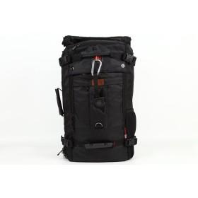World Travel Equipment 3WAYバックパック 四角いからとにかくたくさん入る大容量 男女兼用/スクエアリュック/旅行・出張用 (M, ブラック)