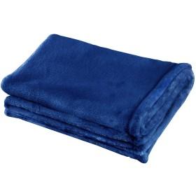 Kspowwin ブランケット・毛布 肩掛け 着る毛布 静電防止 温かい 柔らか 冷房/防寒対策 静電気防止 軽量 洗える 高密度 品質保証書付き (藏青色, 約70100cm)