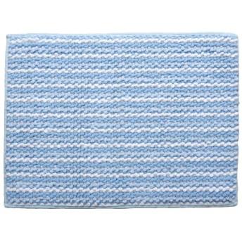 バスマット 洗える 吸水 お風呂 マット『 スカイ 同色2枚組 』約50×75cm ブルー(#3464670)