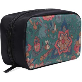 CWSGH メイクポーチ かわいいウサギや蝶 ボックス コスメ収納 化粧品収納ケース 大容量 収納 化粧品入れ 化粧バッグ 旅行用 メイクブラシバッグ 化粧箱 持ち運び便利 プロ用