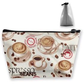コーヒー 収納ポーチ 化粧ポーチ トラベルポーチ 小物入れ 小財布 防水 大容量 旅行 おしゃれ