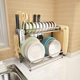食器乾燥ラック シンク上ディスプレイスタンド 水切り ステンレススチール キッチン用品 収納棚 キッチン用品 ストレージラックステンレススチール