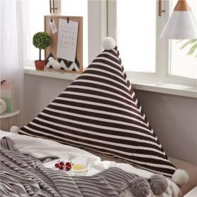 Lts ベッドサイドトライアングルバッククッション、マットバッククッション枕読書枕背もたれポジショニングサポート枕 (Color : Coffee Color, サイズ : 120x50cm(47x20inch))