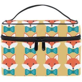 化粧ポーチ 化粧品 収納 コスメポーチ レディース ポーチ 大容量 軽量 防水Cute Cartoon Foxes