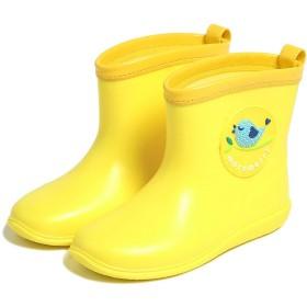 キッズ防水靴、子供レインブーツ ガールズ防水長靴ボーイズ防水長靴 軽量防水シューズ防水防寒レインブーツ イェロー 13cm