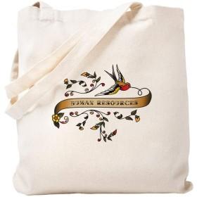 CafePress Human Resources スクロールナチュラルキャンバストートバッグ 布製ショッピングバッグ