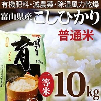 新米 平成31年度産 こしひかり 富山県産 普通米 10kg カナダ農園 育 はぐくみ