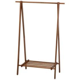 不二貿易 ハンガーラック ブラウン 幅100cm 高さ147.8cm 木製 12969