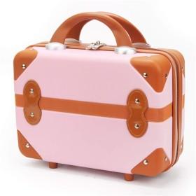 美容密閉収納化粧箱14インチ化粧旅行バッグpuレター防水化粧品ケース用十代の女の子女性アーティスト