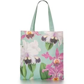 英国 Kew Royal Botanic Gardens [キュー 王立植物園] オーキッド 蘭 デザイン & ロゴ コットン ショルダー エコバッグ 英国製 [並行輸入品]