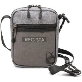 REGiSTA レジスタ ミニ ショルダー バッグ メンズ クリアポケット ドローコード タウンユース スポーティー 軽量 ボックスロゴ 588-men