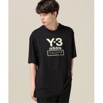 417 EDIFICE 【Y-3 / ワイスリー】 M STACKED LOGO ロングスリーブ TEE ブラック L