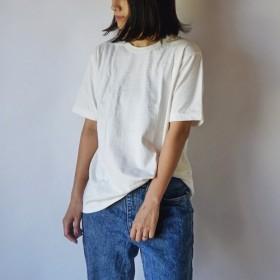 吊り編み スラブ Tシャツ / 生成り