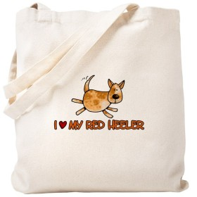 CafePress–I Love My Red Heeler–ナチュラルキャンバストートバッグ、布ショッピングバッグ S ベージュ 0286602451DECC2