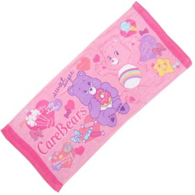 FTL-78/【CARE BEAR/ケアベア】キャラクターフェイスタオル(ピンク)/キャラクター/綿/洗顔/手洗い/外出/携帯/手拭/ギフト/プレゼント