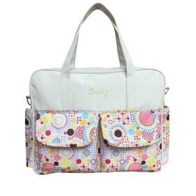 yasushoji マザーズバッグ 2way ママバッグ 大容量 ハンドバッグ ショルダーバッグ 軽量 ベビー用品 (ホワイト)