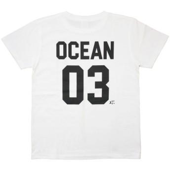 ハワイ ハワイアン雑貨 ハレイワ レディース 半袖 Tシャツ(ホワイト) OCEAN 03 ハワイアン雑貨 ハワイ 雑貨 サーフブランド (Lサイズ)