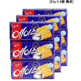 [ヘテ] 大人気 エース クラッカー スナック/コーヒーと一緒に食べるとよりおいしい 韓国お菓子(97g X 9個) [海外直送品][並行輸入品]