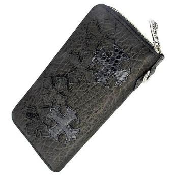 Artemis Classic アルテミスクラシック クロス パッチ ジップ ロング ウォレット 2nd 長財布 サイフ メンズ JMACW0037
