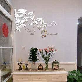 Shidori 田園風 ウォール ステッカー ステッカーガーデン 壁紙シール 壁紙 飾り おしゃれ (シルバー, 54x79cm)