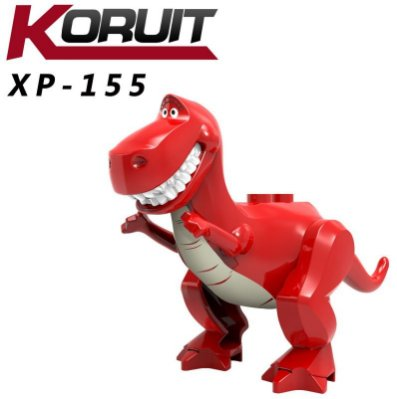 【台中積木老頑童玩具屋】XP155 第三方袋裝積木人偶 玩具總動員系列 抽抽樂 紅色抱抱龍