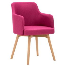 ダイニングチェア チェア Chair ッション シンプルなソリッドウッドのフラックスコーヒーショップレストランSoft Case armrest Negotiate訪問カジュアル TINGTING (色 : Pink)